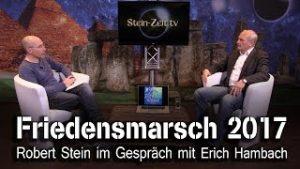 Friedensmarsch 2017 – Erich Hambach bei SteinZeit