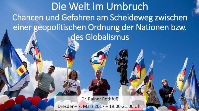 Die Welt im Umbruch – Dr. Rainer Rothfuß