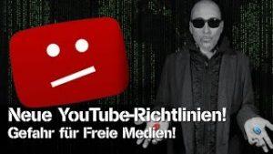 Neue YouTube-Richtlinien – Gefahr für Freie Medien!