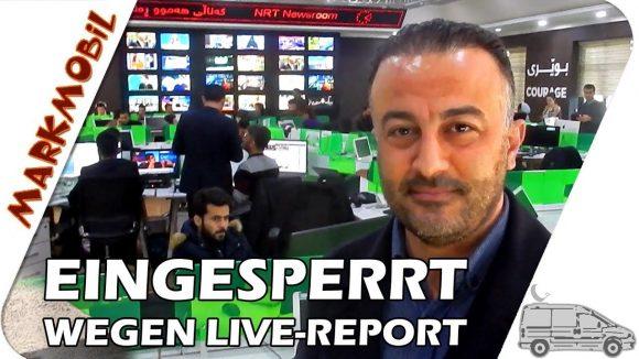 MARKmobil Mittelpunkt – Eingesperrt wegen Live-Report