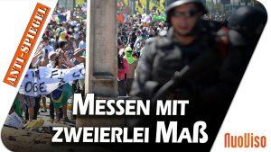 Messen mit zweierlei Maß: Wie unterschiedlich deutsche Medien über Proteste berichten