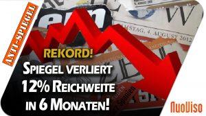 Rekord: Der Spiegel verliert in nur sechs Monaten 12% seiner Leserschaft