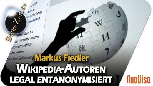 Wikipedia-Autoren legal deanonymisiert – Markus Fiedler bei SteinZeit