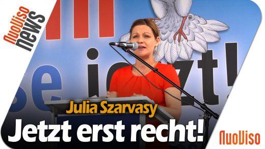 Julia Szarvasy – Rede vor dem Brandenburger Tor (Kündigt Ramstein)