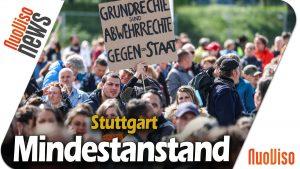 Mindestanstand – Stuttgart demonstriert