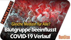 Blutgruppen nehmen Einfluss auf den Krankheitsverlauf von COVID-19