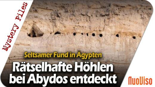 Seltsamer Fund in Ägypten: Rätselhafte Höhlen bei Abydos entdeckt