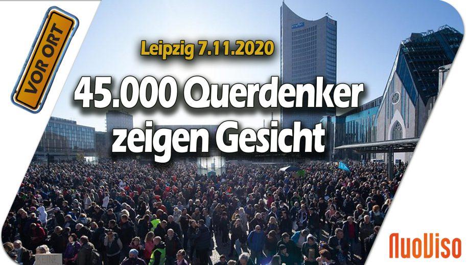45.000 Querdenker zeigen Gesicht in Leipzig