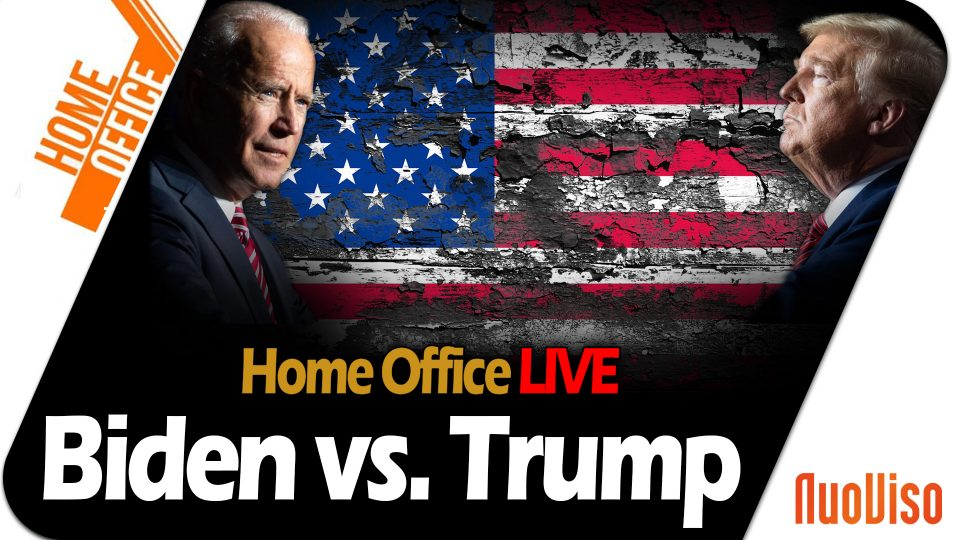 Trump vs. Biden – Home Office LIVE