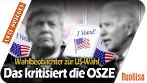 Was die OSZE an den US-Wahlen zu kritisieren hat