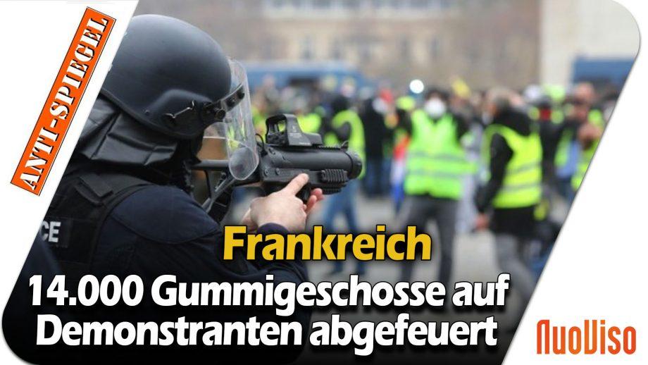 Nach Schätzungen wurden Frankreich in 2 Jahren 14.000 Gummigeschosse auf Demonstranten abgefeuert