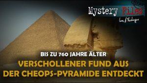 Über 5000 Jahre alter Original-Fund aus der Cheops-Pyramide wieder entdeckt (und er ist zu alt)