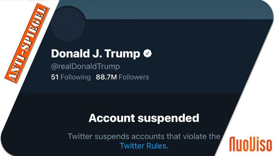 Das russische Fernsehen über die Sperrung von Trump bei Twitter & Co