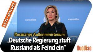 """Russisches Außenministerium: """"Deutsche Regierung stuft Russland als Feind ein"""""""