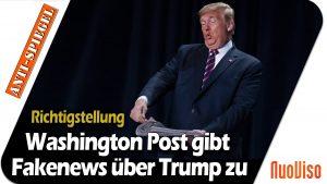 Washington Post gibt zu, Trump Worte in den Mund gelegt zu haben, die er nie gesagt hat