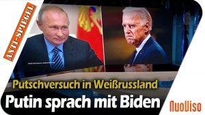 Putin hat mit Biden über den vereitelten Putsch in Minsk gesprochen