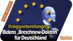 """Bidens """"Breschnew-Doktrin"""" für Deutschland"""