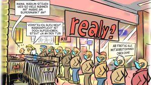 Sachsen hebt Maskenpflicht auf (NuoViso Comic)